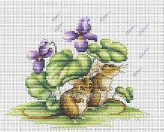 Buy Mice Under Shelter Cross Stitch Kit Online at www.sewandso.co.uk