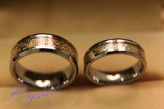 Jeu Wedding bands de tungstène, Matching taille bague de mariage de tungstène…