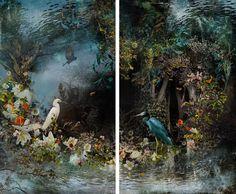 "Saatchi Art Artist: Ysabel LeMay; Digital 2014 Photography ""REFLECTION , diptych / edition 2/7"""