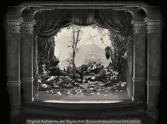 """"""" Parsifal"""" 2.Aufzug 2.Bild Einöde 1882  Bühnenphoto"""