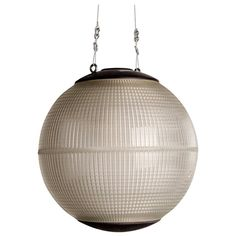 Mid-Century Modern Parisian Holophane Globe Street Light | From a unique collection of antique and modern chandeliers and pendants at https://www.1stdibs.com/furniture/lighting/chandeliers-pendant-lights/