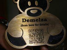 QR Teddy Bear Plaque
