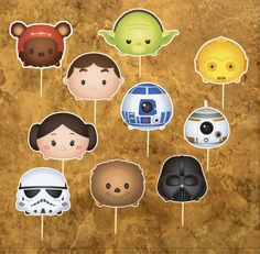 Star Wars Inspiration Cupcacke Toppers  Tsum by lilbubbleboutique