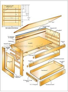 Carvers Tool Chest Plans - Wood Carving Workshop Solutions