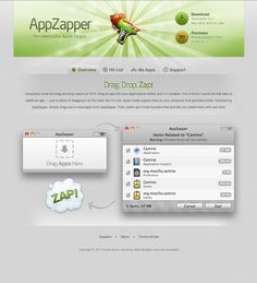 Great Software showcasing UI. AppZapper