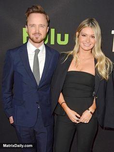 Celebrities Aaron Paul and his wife Lauren Parsekian pack on the PDA at The Path premiere in LA, #aaronpaul #AmyForsyth #HughDancy #laurenparsekian #MichelleMonaghan #Premiere