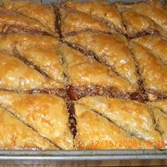 Baklava, made Nov. 2011, froze it and ate it in December. Very, very good.