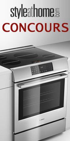 Gagnez une cuisinière Bosch. Fin le 20 juillet.  http://rienquedugratuit.ca/concours/gagnez-une-cuisiniere-bosch/