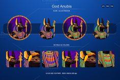 God Anubis. Human Icons. $5.00