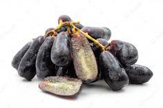 Premium Photo | Black seedless moon drops grape or witch fingers grape on white background Moon Drop Grapes, Witches Fingers, Strange Fruit, Photo Black, Food, Weird Fruit, Essen, Meals, Yemek