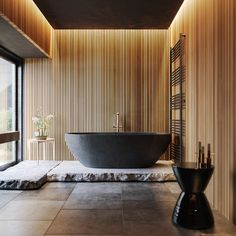 Baden Holz und schwarzes Badezimmer auf Behance Getting The Victorian Look On A Budget Article Body: Bad Inspiration, Bathroom Inspiration, Bathroom Design Luxury, Spa Interior Design, Luxury Bathrooms, Master Bathrooms, Bathroom Designs, Appartement Design, Wood Bathroom