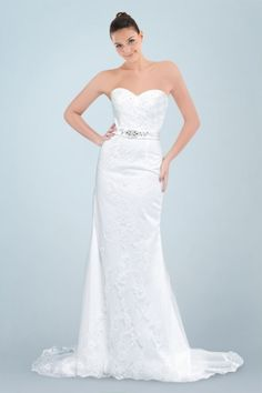 Gorgeous Sweetheart Neckline A-line Wedding Dress with Shimmering Beadings and Delicate Lace