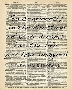 THOREAU Walden Dictionary Quote Art Print Cabin by PatricianPrints, $9.99