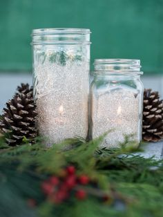 These gorgeous, glittering votives only look expensive. Using glitter, glue and an empty jar, you can easily craft them yourself on the cheap.
