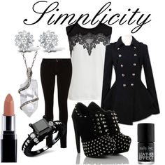 """Simple goth style"" by blinktoes ❤ liked on Polyvore"