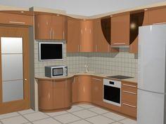 Small Modern Kitchens, Modern Kitchen Interiors, Custom Kitchens, Green Kitchen Furniture, Kitchen Decor, Studio Kitchen, Bedroom House Plans, Best Kitchen Designs, Kitchen Cupboards