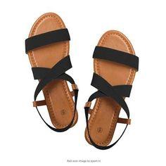 Rekayla Flat Elastic Sandals for Women Black 05 Spring Sandals, Blue Sandals, Brown Sandals, Strap Sandals, Women's Sandals, Slipper Sandals, Summer Shoes, Low Heel Shoes, Low Heels