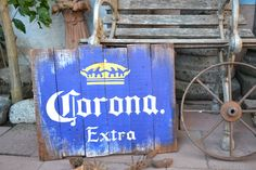 CORONA Extra * Reclaimed Wood Beer Sign -HAND MADE- 16x20 - Mexico - Man Cave, Bar, Game Room *Ready to Ship* by VinyloUSA on Etsy