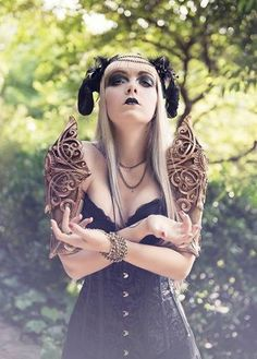 Fantasy Shoulders-Royal armor-Fantasy costume art nouveau