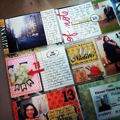 Daily mini journal/pictures. I think I want to try something like this, maybe for baby's first year.