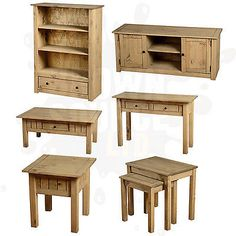 Pine living room furniture #coffee table tv stand nest of #tables #bookcase panam,  View more on the LINK: http://www.zeppy.io/product/gb/2/181246070331/