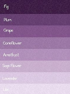 Your guide in all the shades of purple  Pinned from: http://indulgy.com/post/HnspxscPO2/purples  #PurpleWedding #Purple