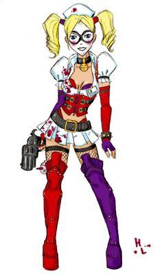 The new Harley Quinn (Arkham Asylum game) drawing