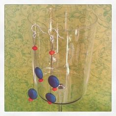 Surgical Steel Stone and Glass Earrings  18.00