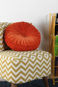 Round Pintuck Pillow Urban Outfitters $34