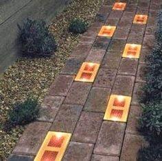 Solar bricks for patio walk