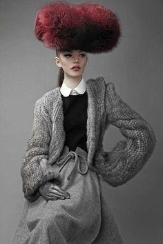 furry hat, Barbara Palvin Dansk AW 2011