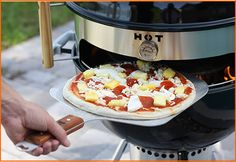 kettlepizza: woodfired outdoor pizza oven - turn your charcoal grill into a wood fired pizza oven