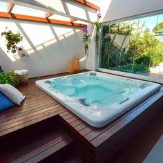 Jacuzzi Outdoor, Outdoor Spa, Jacuzzi Tub, Outdoor Decor, Spa Interior, Spas, Hot Tub Room, Terraced Landscaping, Hot Tub Backyard