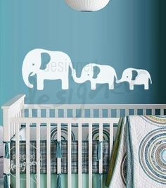 Mom and Baby Elephants - dd1031 -Removable Vinyl Wall Decal Sticker Art Nursery Kids. $28.00, via Etsy.