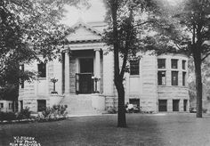 1915. Waukesha Public Library was built in 1904, partially funded by a $15,000 gift from Andrew Carnegie.