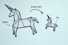 collier licorne DIY plastique fou