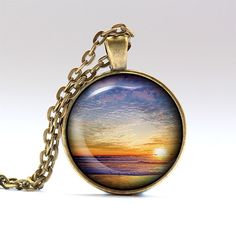 Sky necklace. Nature pendant. Sunset jewelry.  Handmade pendant necklace, comes…