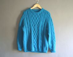 Vintage Wool Cable Knit Sweater Jumper in by VioletsAtticVintage, £35.00