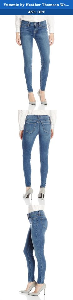 Yummie by Heather Thomson Women's Denim Legging, Classic Blue, Medium. Yummie by heather Thomson denim is the product of smart and innovative design. The yummie denim legging is a pair you will not want to take off The stretch material gives the comfort of a legging, and the look of a jean. With modern detail like a faux front pocket and working zipper and button in the front, this is the perfect everyday pair to show off those legs. Grab a pair in both washes: heritage blue and classic…