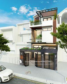 Thiết kế nhà phố 3 tầng đẹp phong cách hiện đại