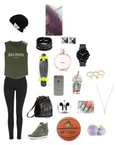 """""""Untitled #17"""" by marieamalieholm on Polyvore featuring Topshop, River Island, Balmain, H&M, adidas, PhunkeeTree, Coleman, The Horse, Replay and Waterford"""