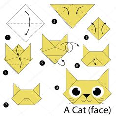 instrucciones paso a paso c 243 mo hacer papiroflexia una … step-by-step instructions or how to make origami A # origami Gato Origami, Origami 3d, Origami Ball, Origami Bookmark, Origami Dragon, Paper Crafts Origami, Origami Ideas, Origami Decoration, Origami Easy Step By Step