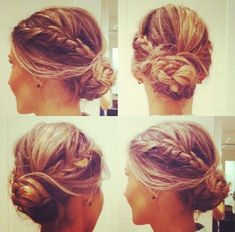 What's the Difference Between a Bun and a Chignon? - How to Do a Chignon Bun – Easy Chignon Hair Tutorial - The Trending Hairstyle Braided Bun Hairstyles, Up Hairstyles, Pretty Hairstyles, Bun Updo, Bun Braid, Braided Updo, Hair Updo, Wedding Hairstyles, Hairstyle Braid