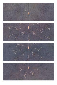 "toytoy-illustration:   "" 線 香 花 火 . "" … © 2013 t o y t o y 夏 が 、 終 わ る な あ 、ち り ち り と 。"