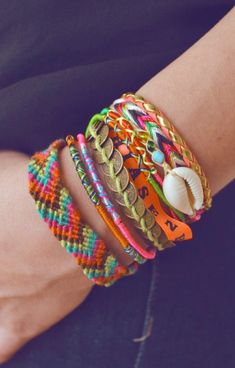 Braided boho friendship bracelets <3