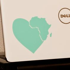 Heart in Africa  - Laptop Decal    Love this!!