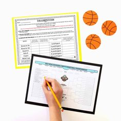 March Madness Math Project and Spring Persuasive Writing Packs - Young Teacher Love Kids Math Worksheets, Math Activities, Writing Algebraic Expressions, March Madness Tournament, Statistics Math, Middle School Classroom, Math Projects, Persuasive Writing, Fun Math