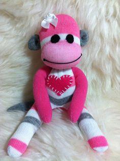 Mini Toddler Sock Monkeys by MushTushy on Etsy, $10.00