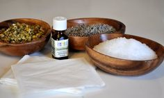Homemade Bath Salts with Oils and Herbs