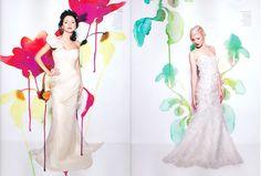 As aquarelas de Stina Persson  e interferindo em editoriais de moda. Fotos por Fabiola Zamora.